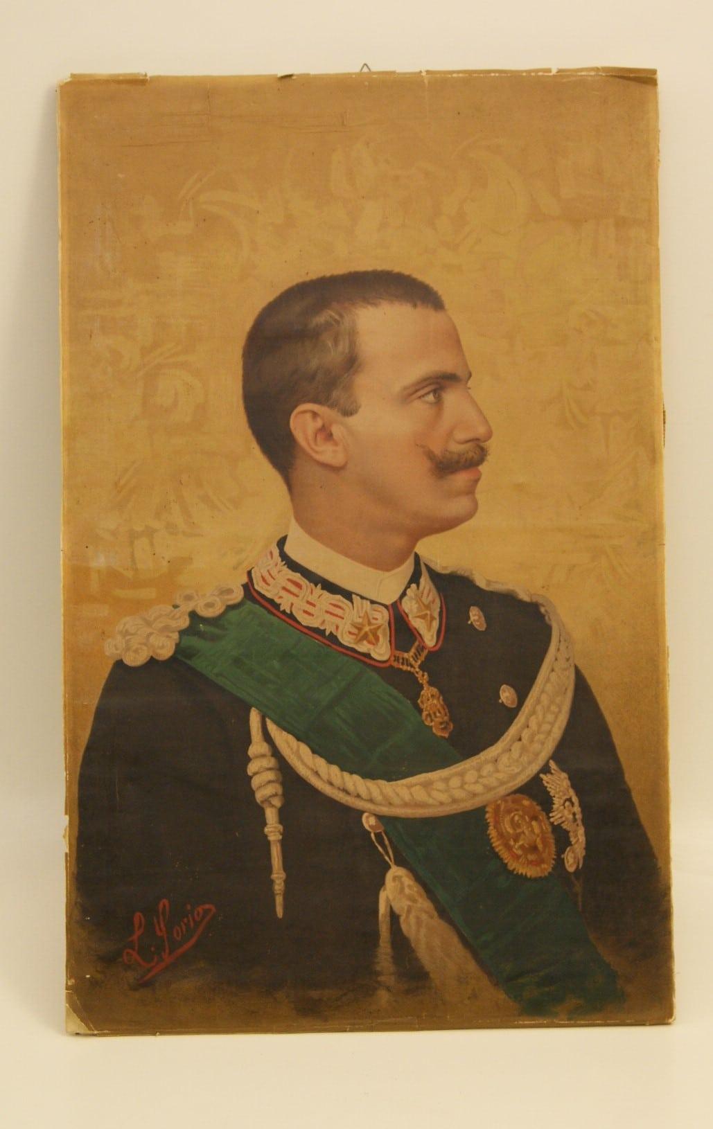 VITTORIO EMANUELE III, RITRATTO OLEOGRAFICO